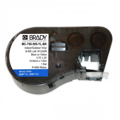 Banda continua vinil Brady MC-750-595-YL-BK 19.05 mm 7.62 m