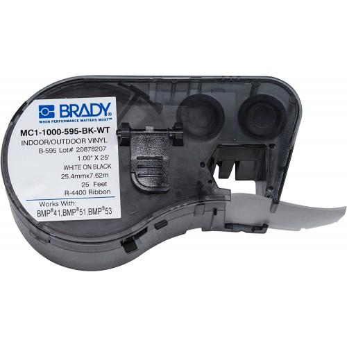 Banda continua vinil Brady MC1-1000-595-BK-WT 25.40 mm 7.62 m