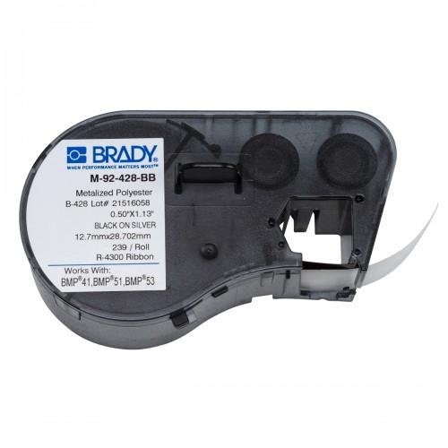 Banda de etichete Brady M-92-428-BB 12.7x33.02 mm 239 et./rola
