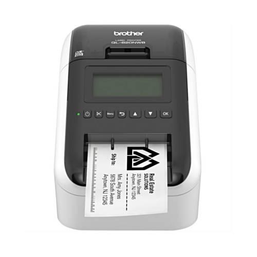 Imprimanta de etichete Brother QL-820NWB 300DPI Wi-Fi auto-cutter