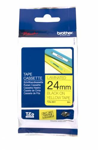 Banda continua laminata Brother TZE651 24mm 8m