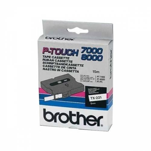 Banda continua laminata Brother TX221 9mm