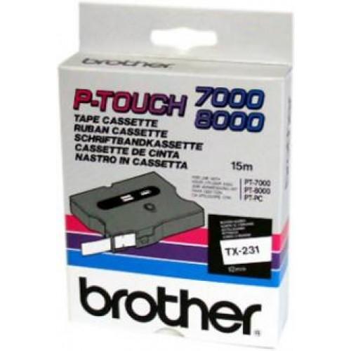 Banda continua laminata Brother TX232 12mm 15m