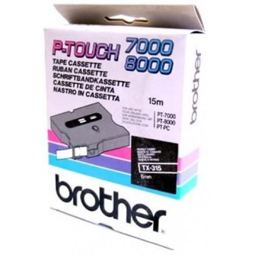 Banda continua laminata Brother TX315 6mm 15m