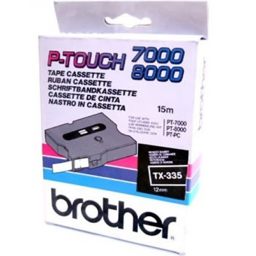 Banda continua laminata Brother TX335 12mm 15m