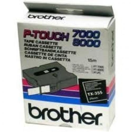 Banda continua laminata Brother TX355 24mm 15m