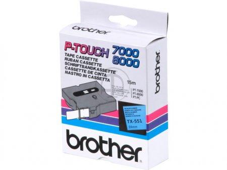 Banda continua laminata Brother TX551 24mm 15m