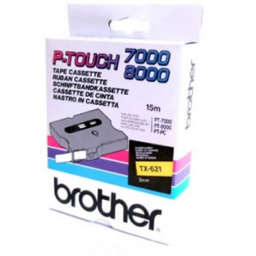 Banda continua laminata Brother TX621 9mm 15m