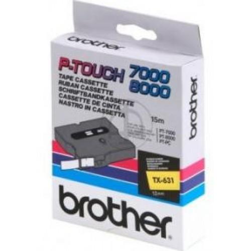 Banda continua laminata Brother TX631 12mm 15m