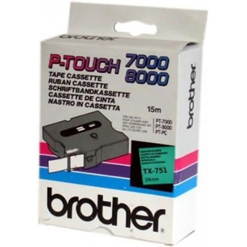 Banda continua laminata Brother TX751 24mm 15m