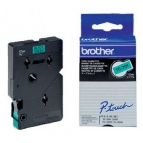 Banda continua laminata Brother TC701 12mm 5m