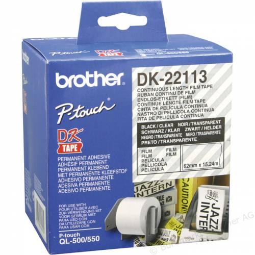 Banda continua laminata Brother DK22113 62mm 15 24m