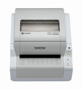 Imprimanta de etichete Brother TD-4100N 300DPI Ethernet auto-cutter