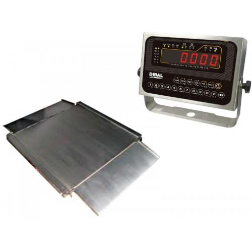 Cantar platforma Dibal 4PBPI 1500 kg inox display LCD