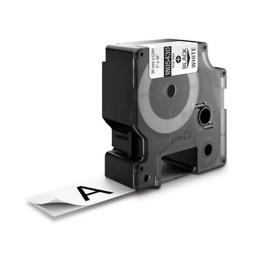 Banda vinil Dymo ID1 DY1805432 24mm Alb/Negru