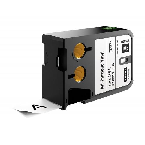 Banda vinil Dymo XTL DY1868753 24 mm negru/alb