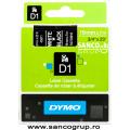 Banda Dymo D1 DY45811 19mm, alb/negru