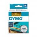 Banda laminata Dymo D1 12mm, Negru/Auriu