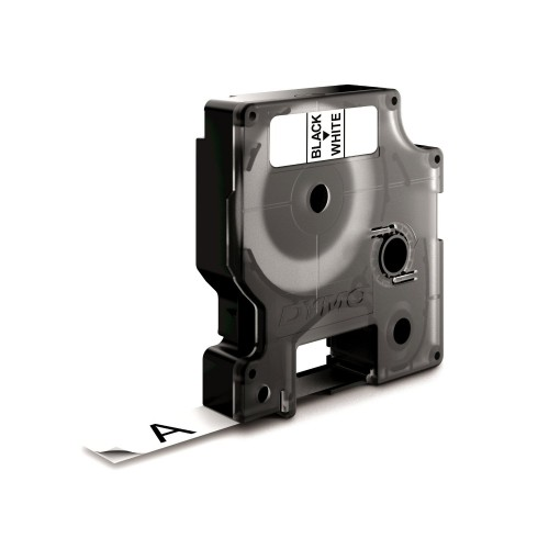 Banda nylon flexibil Dymo D1 DY16957 12mm Negru/Alb