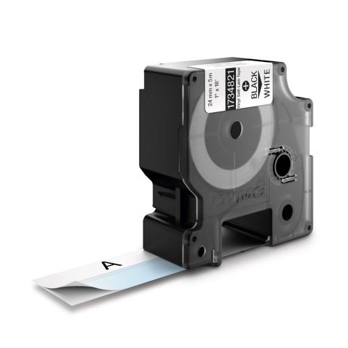 Banda vinil autolaminant Dymo ID1 DY1734821 24mm Negru/Alb