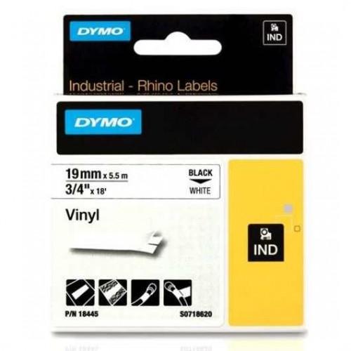 Banda vinil Dymo ID1 DY18445 19mm Negru/Alb