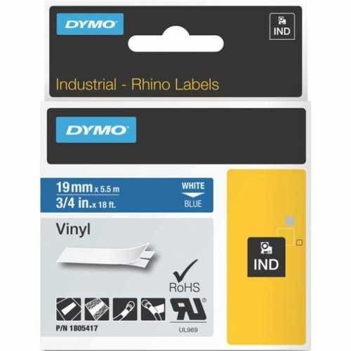 Banda vinil Dymo ID1 DY1805417 19mm Alb/Albastru
