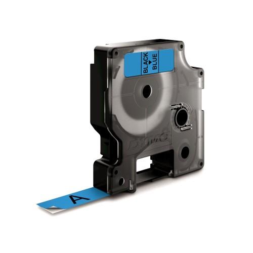 Banda laminata Dymo D1 DY45016 12mm Negru/Albastru