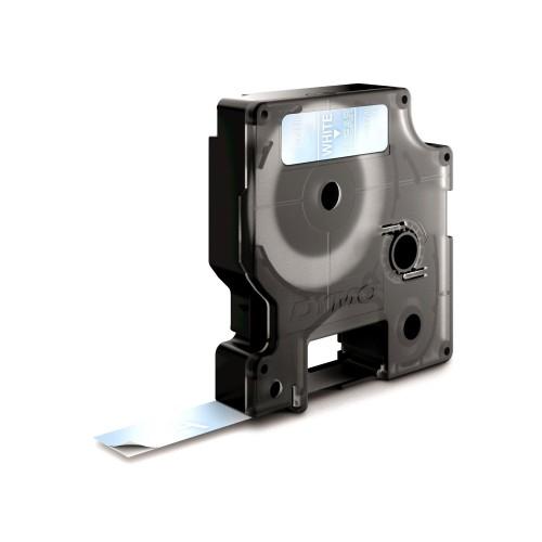Banda laminata Dymo D1 DY45020 12mm Alb/Transparent