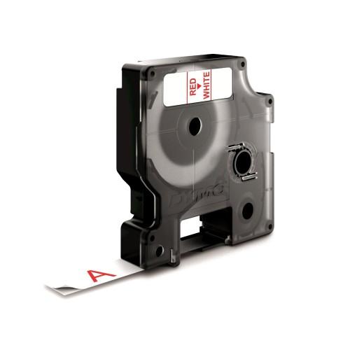 Banda laminata Dymo D1 DY45015 12mm Rosu/Alb