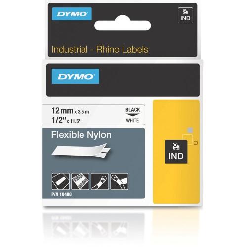 Banda nylon flexibil Dymo DY18488 12mm Negru/Alb