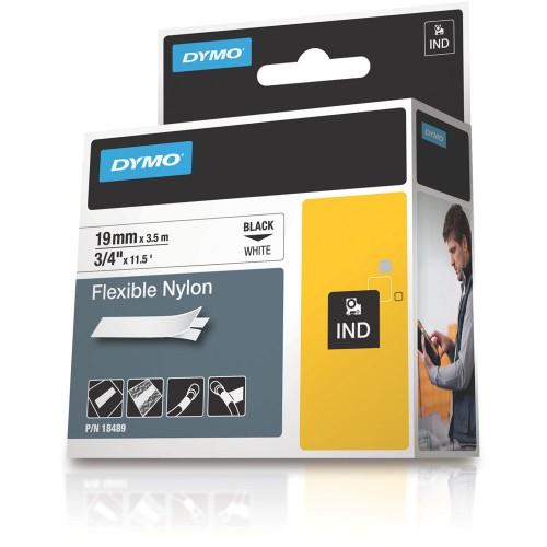 Banda nylon flexibil Dymo DY18489 19mm Negru/Alb
