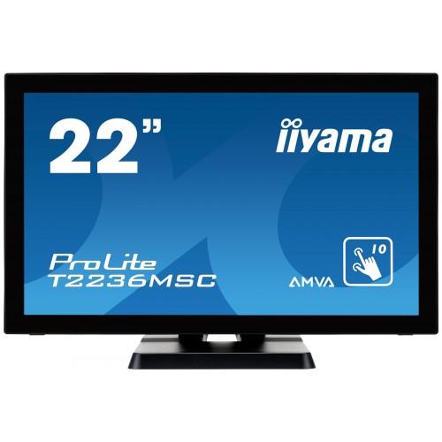 "Monitor touchscreen iiyama ProLite T2236MSC 21.5"" blue light reducer negru"