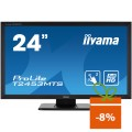 "Monitor touchscreen iiyama ProLite T2453MTS, 23.6"", USB hub, negru"