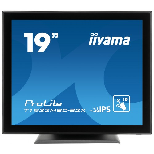 Monitor touchscreen iiyama ProLite T1932MSC 19'' Projected Capacitive 10 TP negru