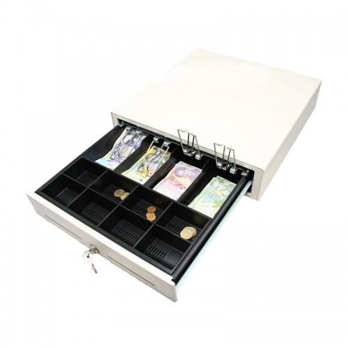 Sertar de bani metalic CD350W alb