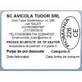 Etichete semilucioase AVICOLA, pulpe dezosate, 58x43 mm