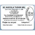 Etichete semilucioase AVICOLA, pulpe cu os, 58x43 mm