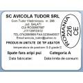 Etichete semilucioase AVICOLA, spate fara aripi, 58x43 mm