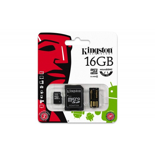 Set card de memorie microSD si cititor Kingston 16GB