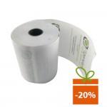 Role hartie termica 57mm/18m, tub 12mm, personalizate, BPA free