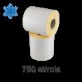 Role de etichete semilucioase 100x70mm, pentru congelate, 750 et./rola