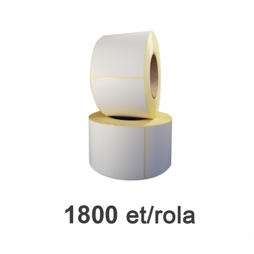Role de etichete semilucioase 77x92mm 1800 et./rola
