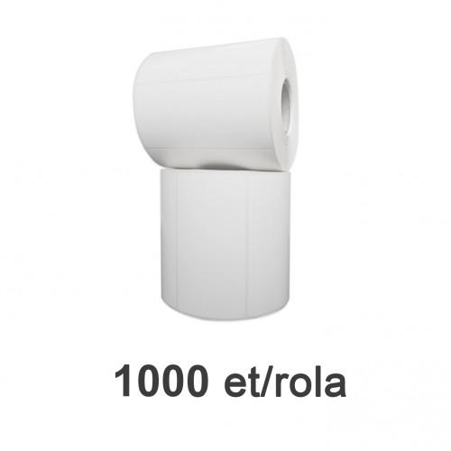 Role de etichete plastic albe 100x50mm 1000 et./rola