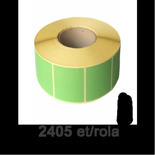Role de etichete semilucioase verzi fluo 80x60mm 2405 et./rola