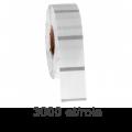 Role etichete de plastic ZINTA transparente 94x40mm, 3000 et./rola