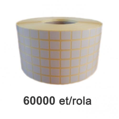 Role de etichete semilucioase 13x15mm 60.000 et./rola
