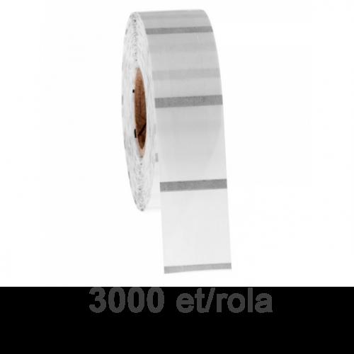 Role de etichete plastic transparente 79x60mm 3000 et./rola