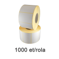 Role etichete semilucioase ZINTA 70x52mm, 1000 et./rola