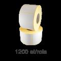 Role de etichete semilucioase 50x40mm, 1200 et./rola