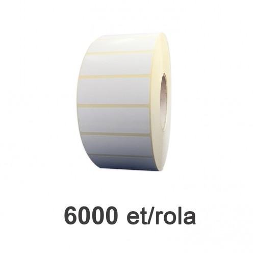 Role de etichete semilucioase 80x26mm 6000 et./rola